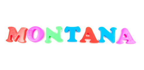 montana written in fridge magnets