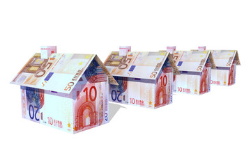 euro houses on a row