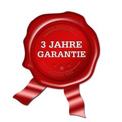 3 Jahre Garantie, siegel, button