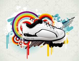 sneakers vector illustration © chispas