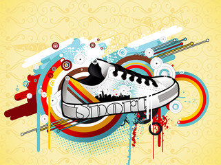 sneakers vector illustration © chispas