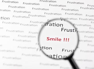 Frustration - Lächeln