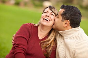 Attractive Mixed Race Couple Portrait