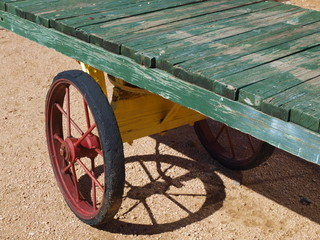 Vintage Rail Baggage Cart