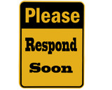 please respond sign isolated