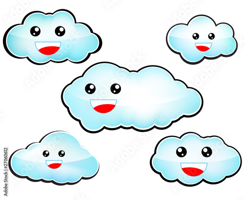 Happy clouds