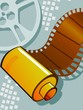 Film roll and cinema projector