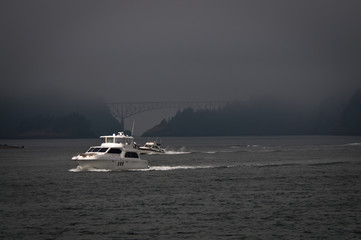 Two boats near Deception pass
