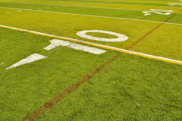 Football Field Ten Yardline