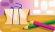 Paper clip and pencils