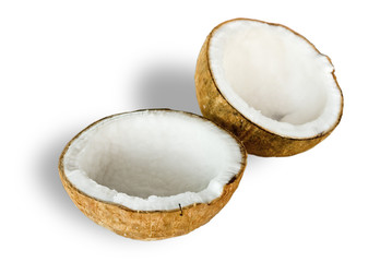 Coconut for oil preparing