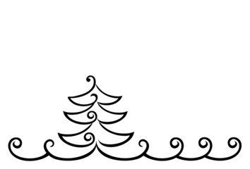 Weihnachtsbaum schlicht