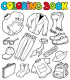 Coloring book with apparel 1 poster