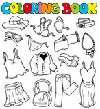 Coloring book with apparel 2 poster
