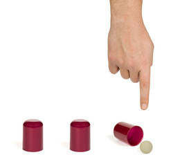Hand and shell game
