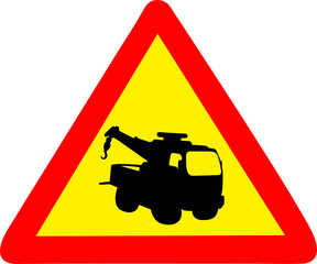 towing truck sign