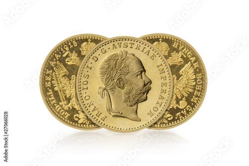 Drei Goldmünzen