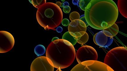 3d анимация праздник воздушные шары