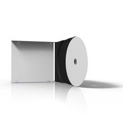 pochette cd ouverte sur fond blanc