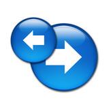 Boton brillante simbolo BACK NEXT