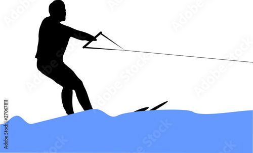 man making water ski