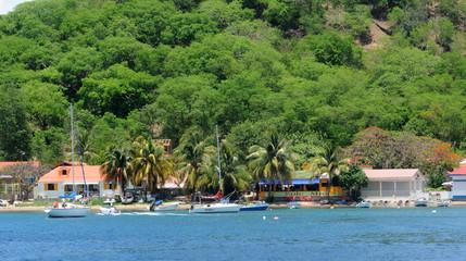 Guadeloupe, plage aux Saintes