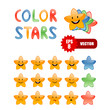 color cartoon stars