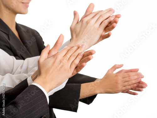 Business people hands