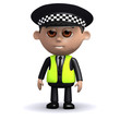 3d Policeman stands to attention