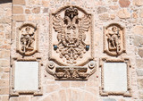 Coat of arms- details on famous Saint Martin Bridge