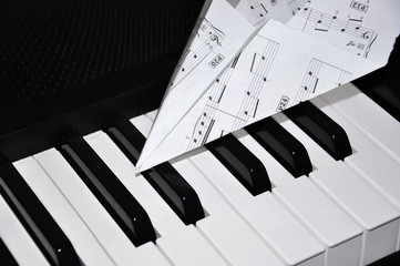 The piano and notes
