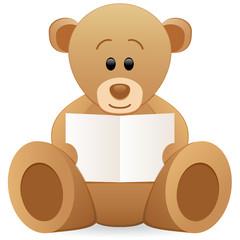 Teddybär mit Karte