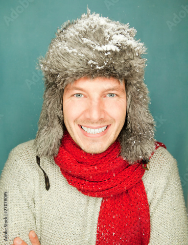 winter man portrait