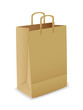 Vector illustration of paper bag over white