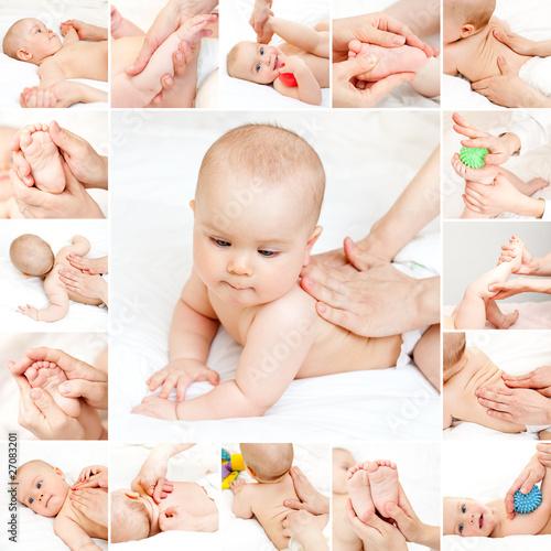 Leinwandbilder,baby,rücken,körper,pflege