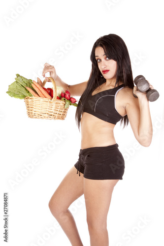 Vegetables and workout
