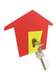 Símbolo de casa y llaves