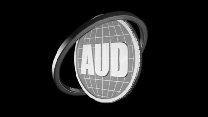 3d анимация серебряная монета чёрный фон