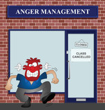 Angry man at the anger management help centre poster