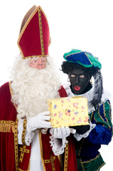 Saint Nicholas and his helper