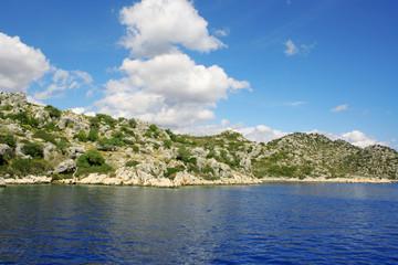 Mountains and sea view. Turkey.