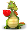 Dragon et coeur