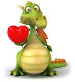 Fototapety Dragon et coeur