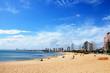 Leinwanddruck Bild - Beach of Punta del Este