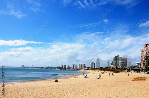 Leinwanddruck Bild Beach of Punta del Este