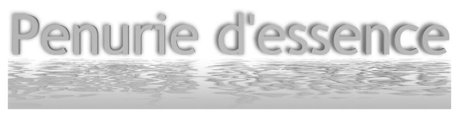Penurie d'essence avec reflet de l'eau