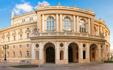 Panoramic shot of Theater of Opera and Ballet building in Odessa