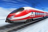 Fototapety Winter high speed train