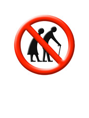 Elderly people - 3D sign