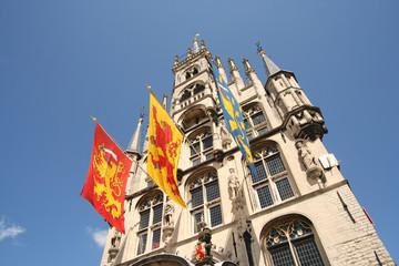 Gouda City Hall with Flags, Holland